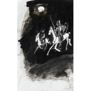 Józef Wilkoń (ur. 1930), Ilustracja do Don Kichota, 2016 r.