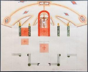Jerzy Nowosielski (1923 Kraków - 2011 tamże), Katedra S.M. Magdaleny Warszawa - projekt wnętrza