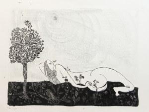 Ewa Kuryluk (ur. 1946 Kraków), Ewa z wężem, 1966 r.