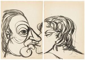 Roman Opałka (1931 Abbeville-Saint-Lucien - 2011 Rzym), Pocałunek - dyptyk