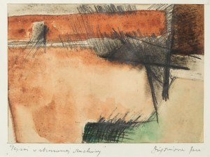 Jan Dziędziora (1926-1987), Pejzaż w zburzonej dzielnicy
