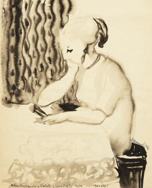 Halina Wrzeszczyńska (1929-2018), Kobieta z książką, 1956 r.