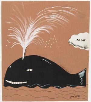 Hanna Bakuła (ur.1950), Projekt kartki urodzinowej-Wieloryb