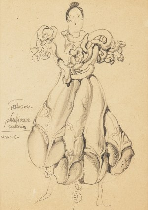 Franciszek Starowieyski (1930 Bratkówka k. Krosna - 2009 Warszawa), Projekt sukni