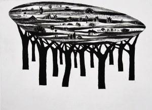 Jerzy Dmitruk, Z cyklu Drzewa objawień, Niebo nad lasem, 2007
