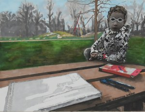 Aleksandra Łojek-Szymanowska, Mój Hamburg - plac zabaw, 2019