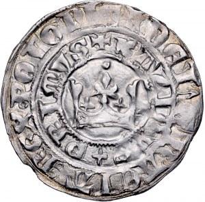 Kazimierz Wielki 1333-1370, Grosz krakowski, Av.: Korona, napis: KAZIRUS + PRIMUS / DEI GRATIA REX POLONIE, Rv.: Orzeł piastowski, napis: GROSSI CRACOVIENSSES. RR.