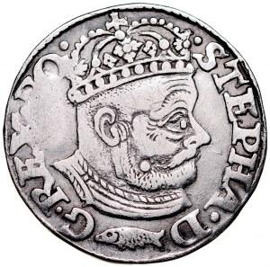 Stefan Batory 1576-1586, Trojak 1580, Ryba, Olkusz.