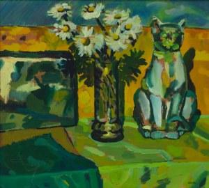 Weronika Włodarczyk (ur. 1978), Martwa natura z kotem, 1998