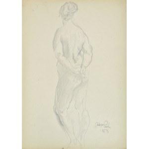 Kasper Pochwalski (1899-1971), Akt stojącej kobiety w ujęciu od tyłu, 1953