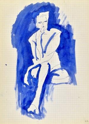 Jerzy Panek (1918-2001), Akt siedzący - zamyślona