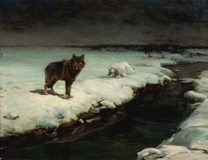 Alfred Wierusz-Kowalski (1849 - 1915), Wilk, lata 80. XIX w.