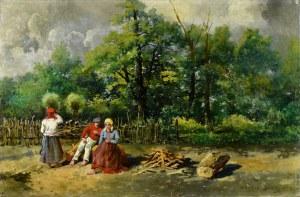Władysław Rutkowski - Bończa (1842-1905), Scena wiejska, 1899