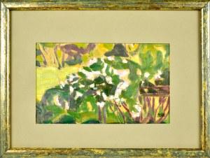 Wojciech Weiss (1875-1950), Motyw z ogrodu, 1906
