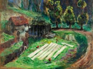 Aleksander Jędrzejewski (1903-1974), Bielenie płótna, 1935