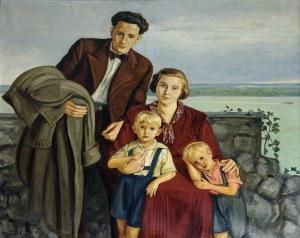 Wlastimil Hofman (1881-1970), Portret rodzinny, 1934