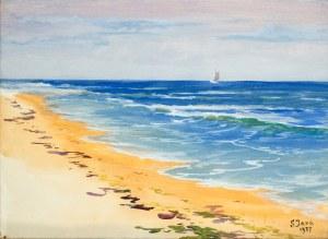 Soter Jaxa - Małachowski (1867 - 1952), Bałtycka plaża, 1937