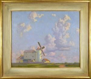 Ludwik Cylkow (1877 - 1934), Pejzaż z wiatrakiem