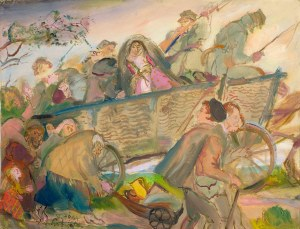 """Kasper Pochwalski (1899-1971), EXODUS """"Ucieczka"""" z cyklu """"IX 1939"""", 1964"""
