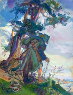 """Kasper Pochwalski (1899-1971), EXODUS """"Borem, lasem"""" z cyklu """"IX 1939"""", 1964"""