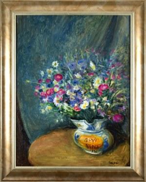 Aneri Irena Weissowa (1888-1981), Kwiaty w wazonie, 1980