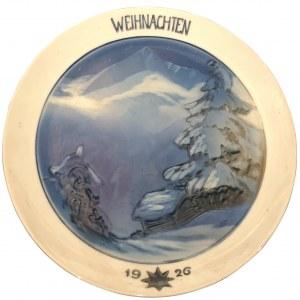 TALERZ PORCELANOWY, 1926 (na Boże Narodzenie - Weinachten)
