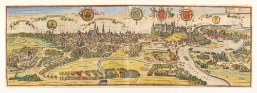 Braun Georg, Hogenberg Abraham, Widok Krakowa [Cracovia Minoris Poloniae Metropolis]