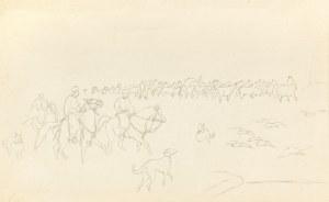 Kossak Juliusz, Pochód Tatarów przez step, 1887