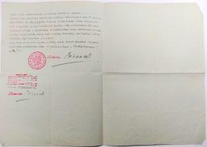 Wypis z aktu notarialnego, Wilno 1939