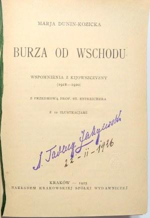 Dunin-Kozicka, Burza od wschodu 1925