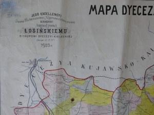 Mapa Diecezji Kieleckiej 1923