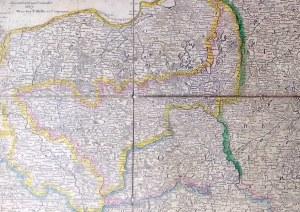 [Mapa Polski 1807] Rizzi-Zannoni: Polen unter Oesterreich, Russland und Prussen