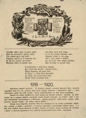 JEDNODNIÓWKA 1-ej Litewsko-Białoruskiej Dywizji MCMXVIII - MCMXX. Wilno: Druk. J. Bajewskiego, 1920. - 28...