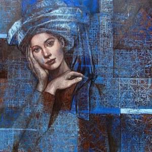 Mira Skoczek-Wojnicka, Niebieski turban II, 2020