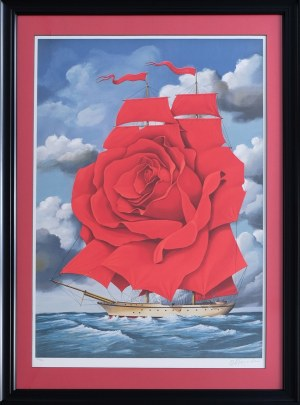 Rafał Olbiński, Red Rose Ship (122/350)