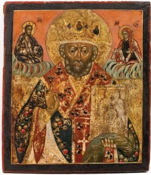 IKONA ŚW. MIKOŁAJ, Rosja, 1 poł. XIX w.