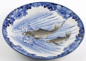 TALERZ Z KARPIAMI, Japonia, Arita, k. XIX w.