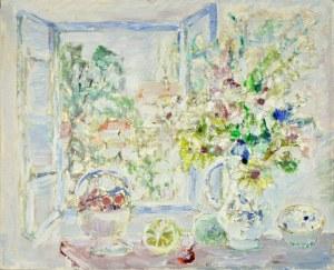Henryk Krych (1905 - 1980), Martwa natura na tle okna