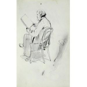 Stanisław Kaczor Batowski (1866-1946), Stary mężczyzna z brodą siedzący na krześle i czytający