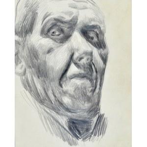 Stanisław Kamocki (1875-1944),Autoportret w ujęciu prawego en trois quatre od dołu