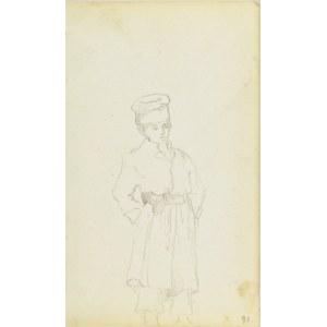 Jacek Malczewski (1854-1929), Postać stojącego, wiejskiego chłopaka