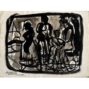 Kazimierz Podsadecki (1904 - 1970), Scena figuralna, 1957