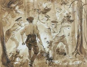 Wincenty WODZINOWSKI (1866-1940), Lasy płonące w Rosji