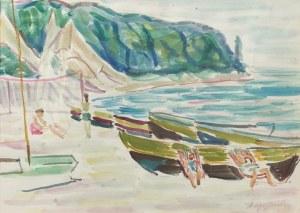 Stanisław KOPYSTYŃSKI (1893-1969), Na plaży