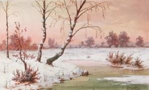 Józef GURANOWSKI (1852-1922), Mroźny dzień, 1913