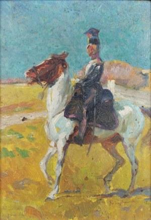 Franciszek ZAJCHOWSKI (1860-1923), Ułan na koniu