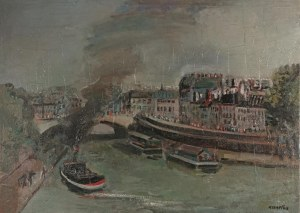 Rajmund KANELBA (1897-1960), Pont Saint Michel w Paryżu