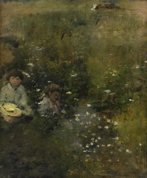 Kazimierz Teofil POCHWALSKI (1855-1940), Dzieci w ogrodzie