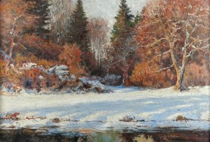 Adam PEŁCZYŃSKI (1865-1926), Pejzaż zimowy