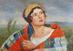 Wincenty WODZINOWSKI (1866-1940), Wiejska dziewczyna, ok. 1920